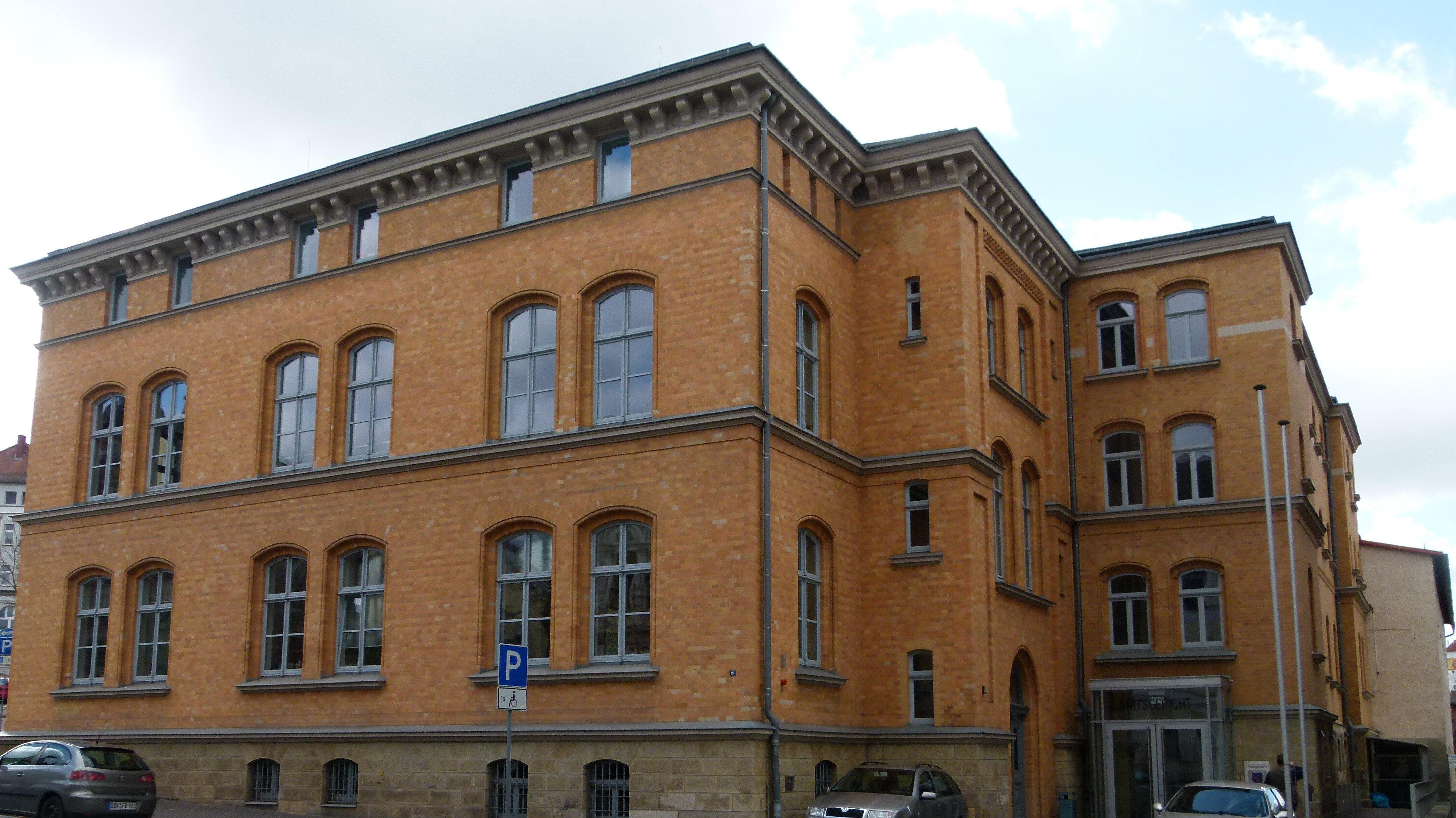 Bild: Gerichtsgebäude des Amtsgericht Pößneck