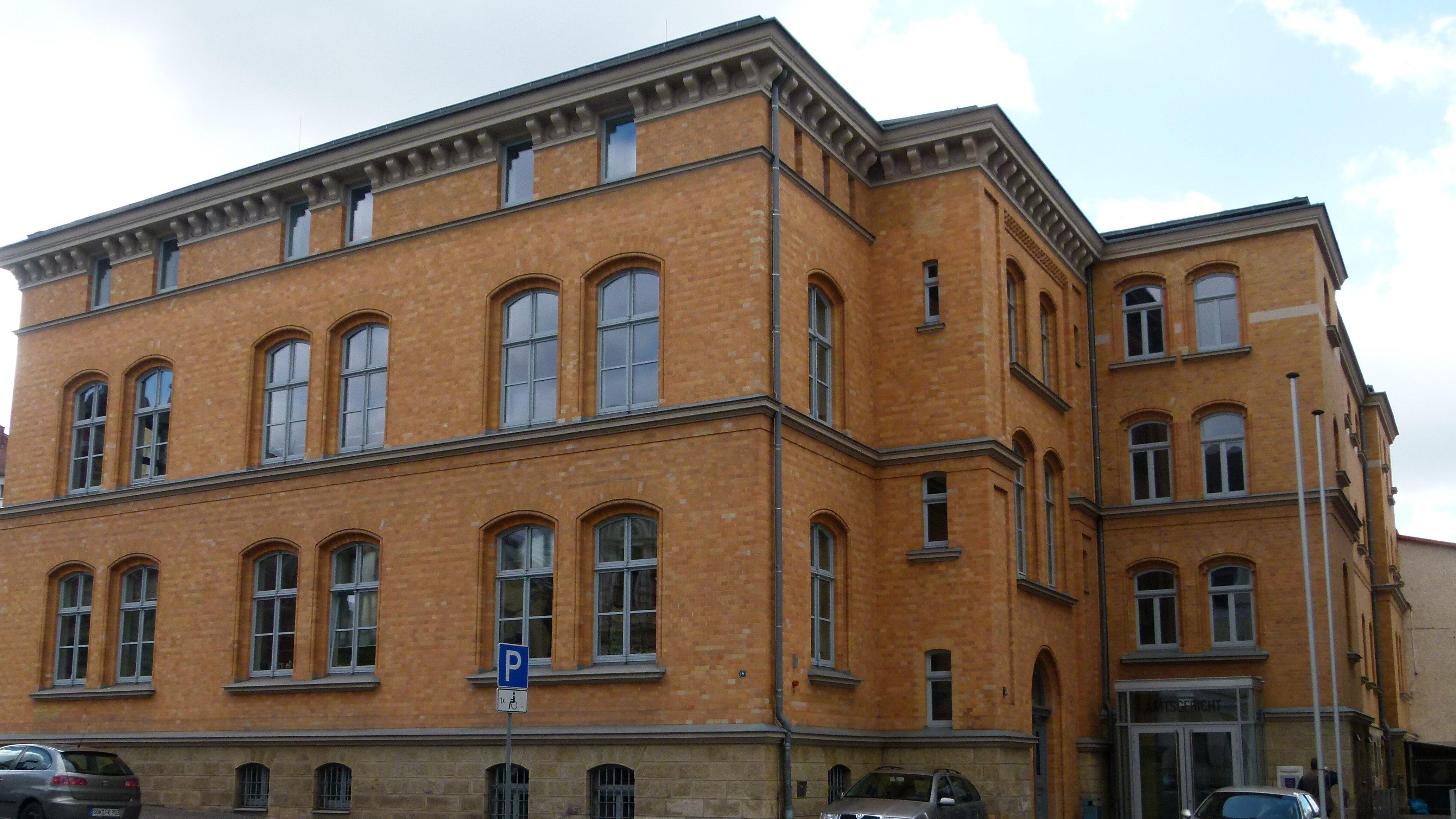 Bild: Gerichtsgebäude des Amtsgerichts Pößneck